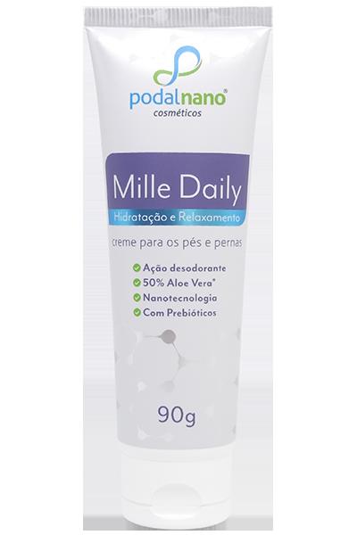 Mille Daily - hidratação e relaxamento creme para os pés e pernas - Podal Nano Cosméticos